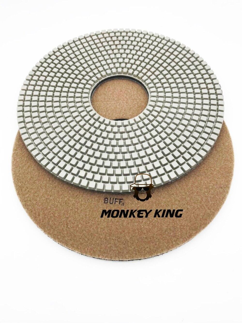 7pieces 4 Diamond Wet Grinding Disc Flexible Polishing Pad 1 Piece