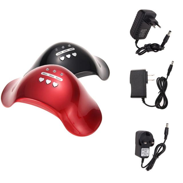 Mini Secador de Uñas LLEVADO Lámparas de Fototerapia Lámpara 12 W Temporizador de $ Number Velocidades LLEVÓ la luz de la Máquina de Uñas de Gel UV de Uñas Secador de Uñas de Manicura herramienta