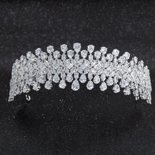 2019 جديد كريستال زركون الزفاف الزفاف لينة عقال Hairband Tiara الشعر مجوهرات اكسسوارات Hairpieces CHA10002