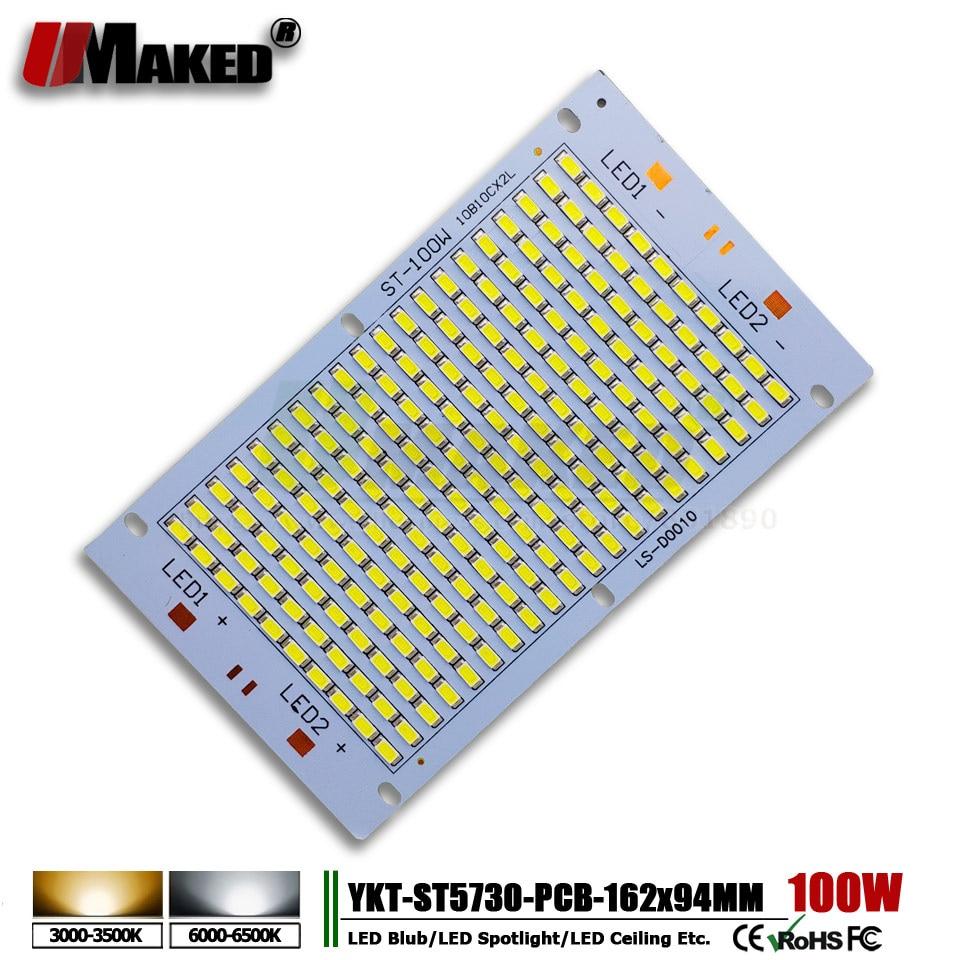 10pcs LED pcb 100W 162 94 11000lm Aluminum Heatsink with SMD5730 Light Source floodlight pcb plate