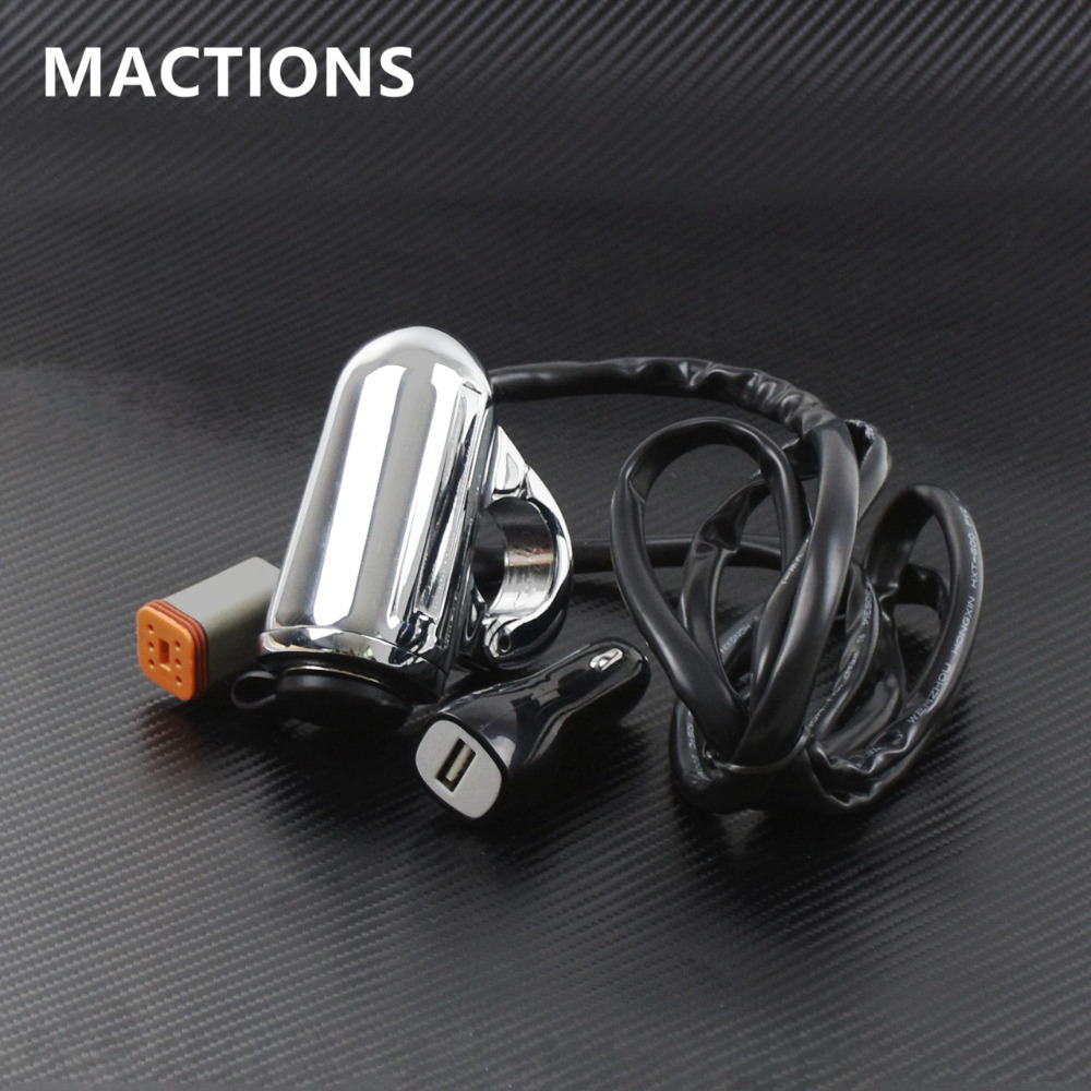 Motorcycle Accessories 1 Handlebar Mount Auxiliary USB Power Port For Harley Street XG500 XG750 15 17