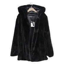 Telotuny роскошное женское теплое пальто куртка Женское пальто de зима с капюшоном с длинным рукавом из искусственного меха Женское пальто парка JL 25