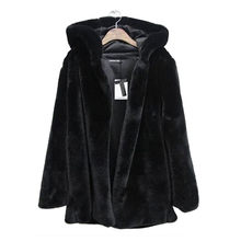 Telotuny Luxury Ladies Warm Coat Jacket female coat de winter 2018 Hooded long-sleeve Faux Fur female coat parka JL 25(China)