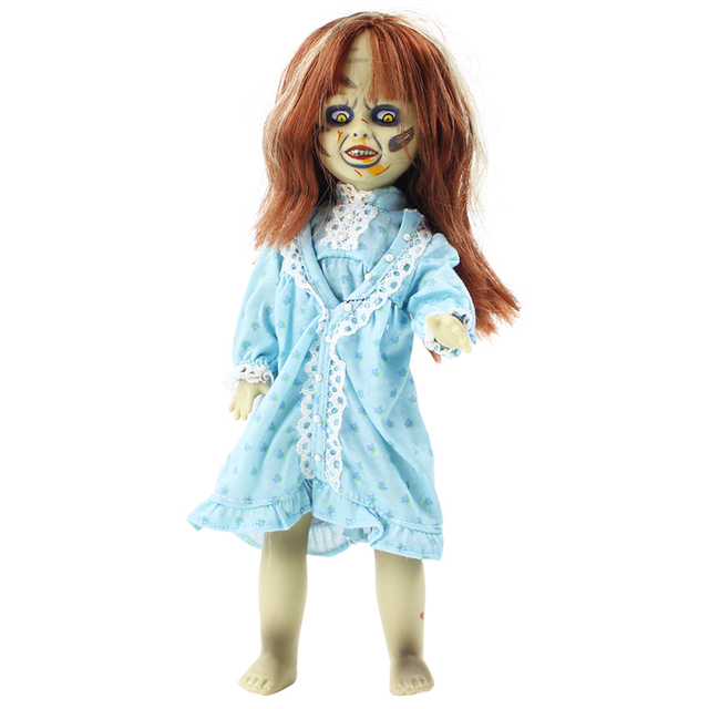 26cm Terror Film The Exorcist Living Dead Dolls Scary Bride of Chucky Classic PVC Action Figure Toys Halloween Gift For Kids