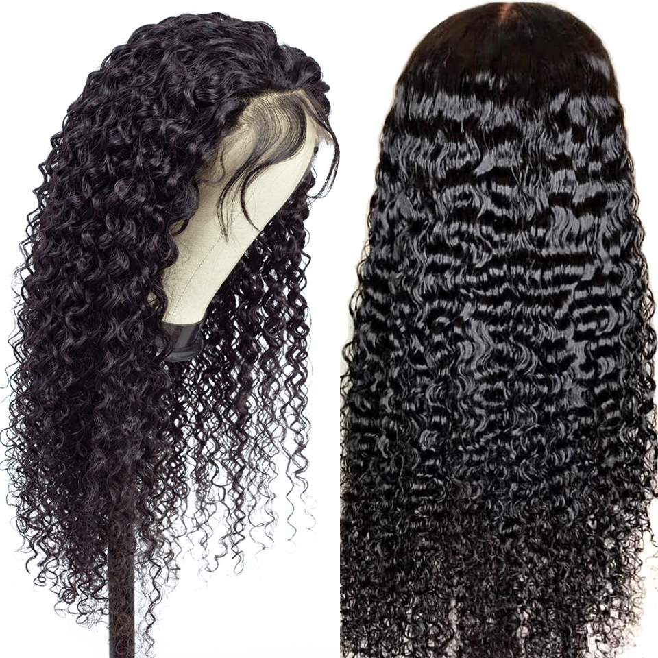 13x4 Brazilian Water Wave Lace Front Wig With Baby Hair PrePlucked Natural Hairline Lace Frontal Human