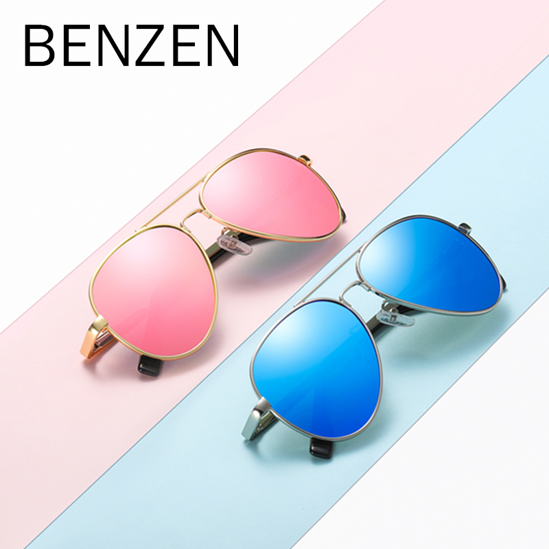 BENZEN Polarized Kids Sunglasses Vintage UV 400 Boy Sun Glasses Children Girl Shades Accessories With Box 1010