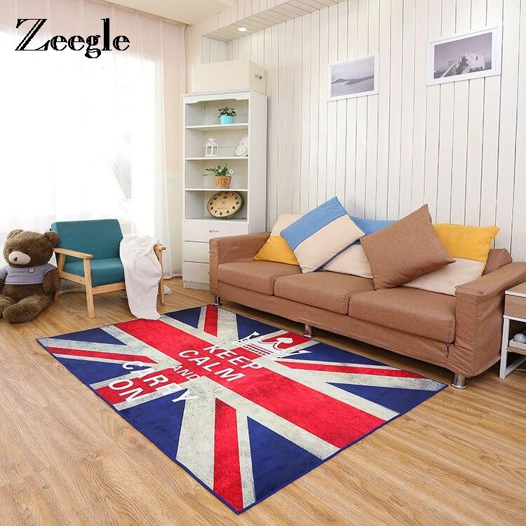 Zeegle drapeau tapis pour salon anti-dérapant chaise de bureau tapis de sol tapis doux pour enfants enfants chambre tapis chevet tapis
