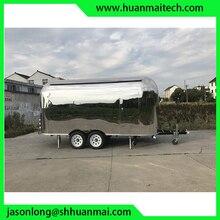 Mobile Food Van Stainless Steel Catering Trailers Fast Trucks