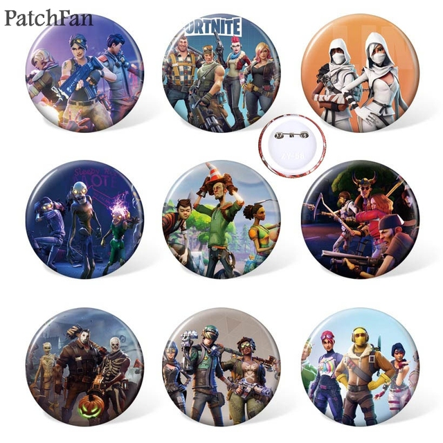 10sets/lot Patchfan game 9pcs/set Pins backpack clothes brooches for men women diy  hat clothes decoration badge medal A1133