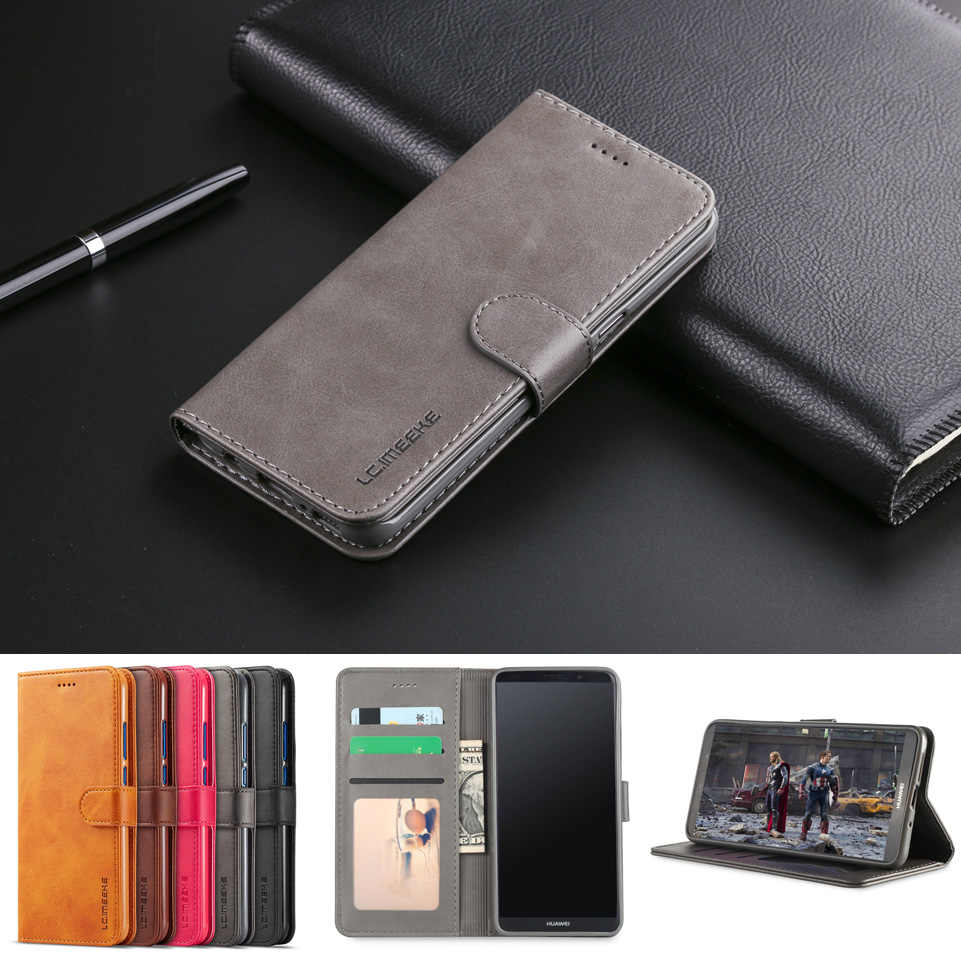 Coque Huawei Mate 10 Lite case Leather Flip Wallet Huawei Mate 10 Pro Phone Case Mate 10 Lite Flip Case Credit Card Funda Etui