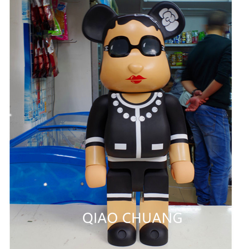 Hot 28 70CM 1000% Be@rBrick BFF OriginalFake Brian Street Art Fashion New Action Figure Collectible Model Toy Exquisite S284 new hot christmas gift 21inch 52cm bearbrick be rbrick fashion toy pvc action figure collectible model toy decoration