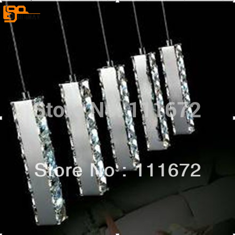 guaranteed 100% dinning room LED pendant lamp modern crystal lighting guaranteed 100