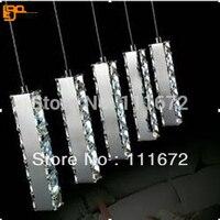 Free Shipping Hot Sales Guaranteed 100 K9 Crystal Dinning Room LED Pendant Light Crystal Lighting Bar