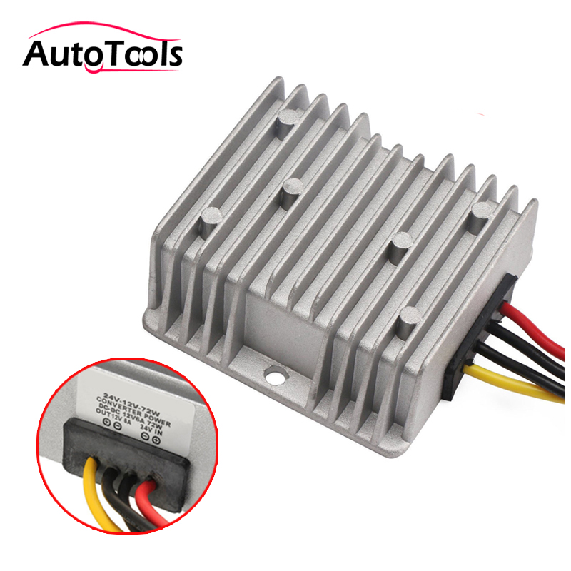 Gold Universal Electric System Car Battery Voltage Stabilizer Regulator w//Cable