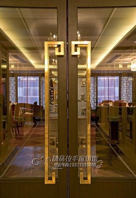 Cheap gold luxury square tube steel door glass door handle door doorknob doors shift 6312 & Cheap gold luxury square tube steel door glass door handle door ...
