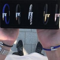 Luxury Men Stingray Nail Bracelet With 316L Stainless Steel Nail Stingray Bracelets For Men Fit Brand