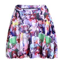 New Halloween Vampire Women Sexy Pleated Skirts Tennis Bowling Bust Shorts Skirts Cool Female Fitness Sport Apparel A Style