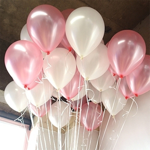 Image 2 - 100pcs/lot 10 Inch 1.5g White Latex Balloons Wedding Decoration Inflatable Birthday Party Helium Balloons Globos Balony Supplies