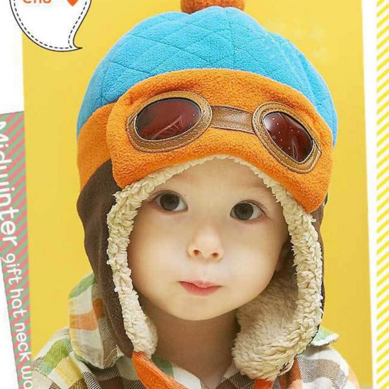 Bébé Garçons Et Filles Pilote Aviateur Chapeau D'hiver Coton Chaud - Vêtements pour bébés