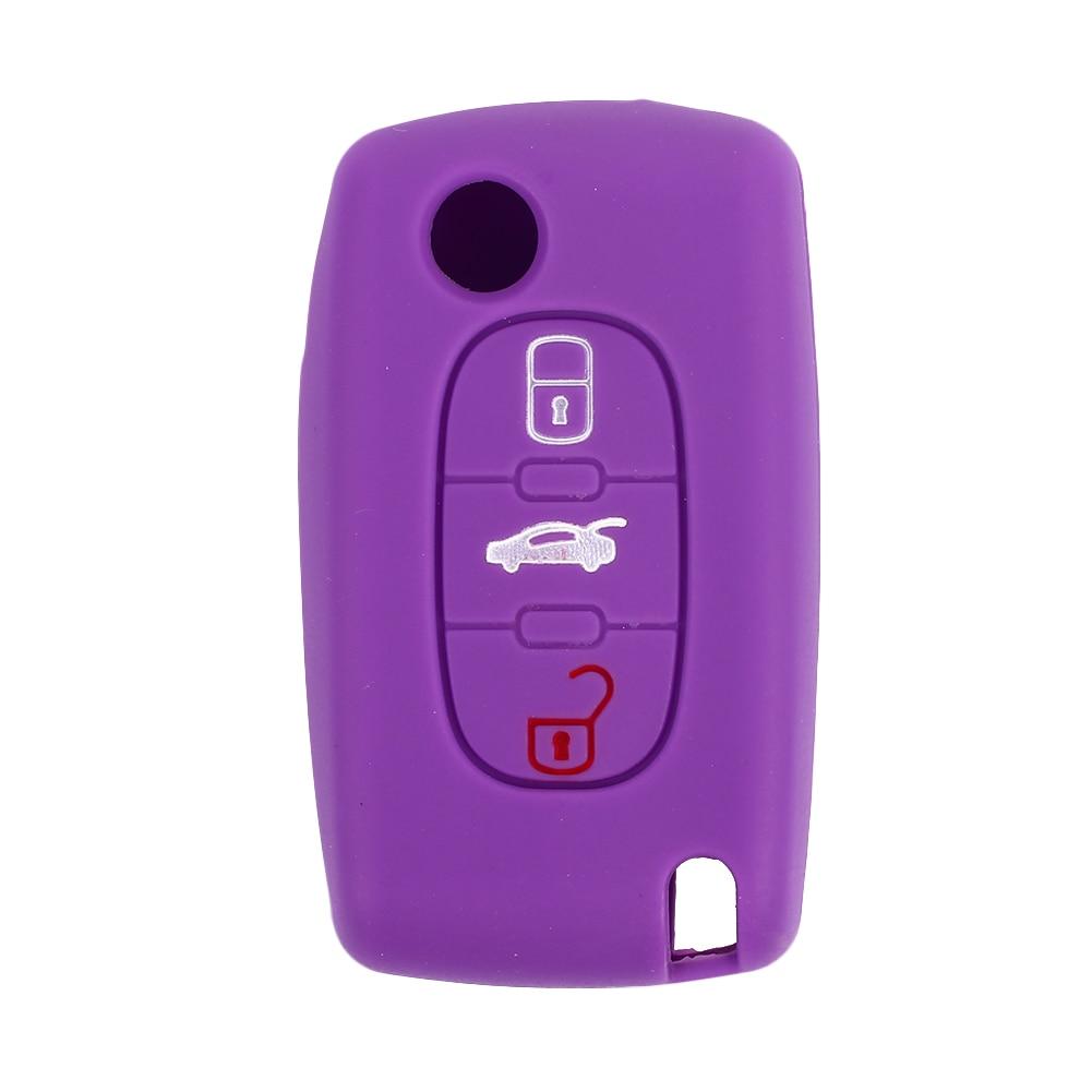 Vehemo силиконовый пульт дистанционного Fob чехол для автомобильного ключа защитный силиконовый чехол для ключей мягкий автомобильный для peugeot 408