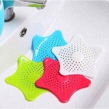 1 stücke Kreative fünf punkt sterne küche Kanalisation Waschbecken Siebe Filter waschbecken verhindert verstopfen bodenablauf bildschirm meer stern silikon