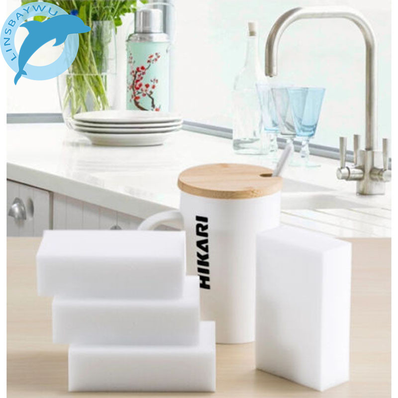 10PCS Melamine Sponge Bowl Dish Cleaner Magic Sponge Eraser Cleaner Eco-Friendly Kitchen Bathroom Cleaning Spong 10*6*2cm