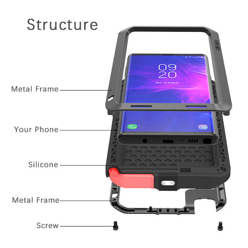 check out 11443 b6ac6 Note9 LOVE MEI Shockproof Life Waterproof Metal Case for SAMSUNG Galaxy  Note 9 for Samsung Note 9 phone Case 360 Full protection