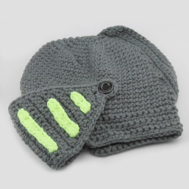 Hot Sale Novelty Roman Knight Helmet Caps Cool Handmade Knit Ski ...
