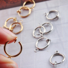 2pcs punk mens/womens stealth clip on earrings no hole ear cuff spring helix ring hoop diy fashion jewelry