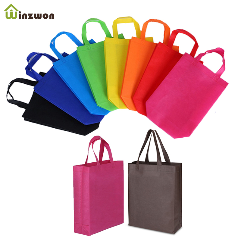 20pcs Reusable Party Favor Gift Tote Bags With Handles For Kids Birthday Snacks DIY Craft Decoration Supplies Multi-use Gift Bag