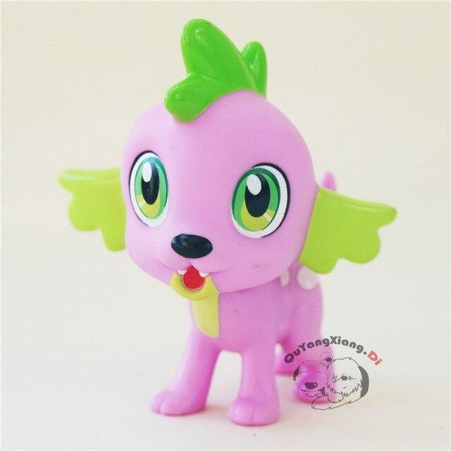 P6-08 Figuras de Ação 6.5 cm Pequeno Bonito Cavalo Modelo Boneca Anime Brinquedos EG Spike O Dragão Brinquedos para As Crianças