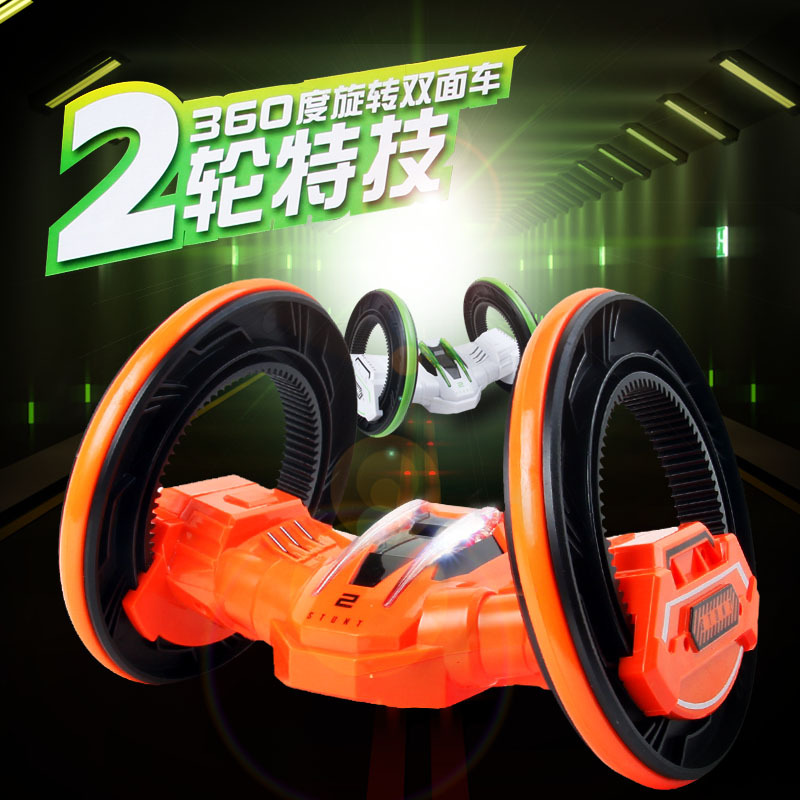 ФОТО Second round space car stunt car, rotate 360 degrees deformation dumper, children's toys, charging remote control model car