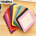Temena  name badge card Business Card Holder PU porte carte  cover with nylon nack company office supply  BCH202