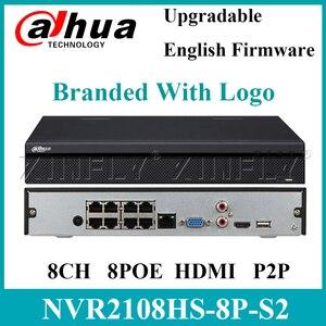 Dahua oryginalny NVR2108HS-8P-S2 8 kanałowy kompaktowy 1U 8PoE Lite Network Video Recorder 2 porty USB wymienić NVR 2104HS-P-S2