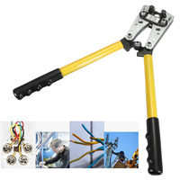 6 50 mm Crimp Tube Terminal Crimper Tool Battery Cable Lugs Hex Crimping Tool Cable Terminal Plier Hand Tool T0077