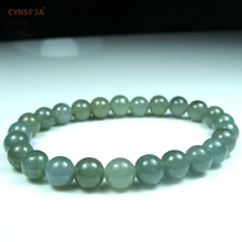 Certified Natural A Grade Burmese Jadeite Emerald Bangle Charm Beads Jade Bracelets Ice Green High Quality Best Birthday Gifts цена и фото
