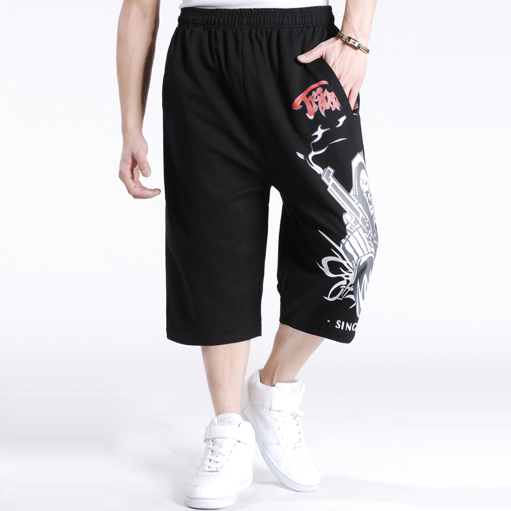 SINYIT 2019 New Fashion Brand Clothing Plus Size Baggy Loose Hip Hop Skull Men Casual Beach Shorts Boardshort XXXL 4XL 5XL 6XL