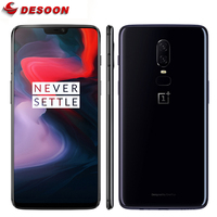 Original OnePlus 6 Smartphone 6GB 64GB Snapdragon 845 Octa Core 20MP+16MP AI Dual Camera Face Unlock Android 8.1 OxygenOS NFC