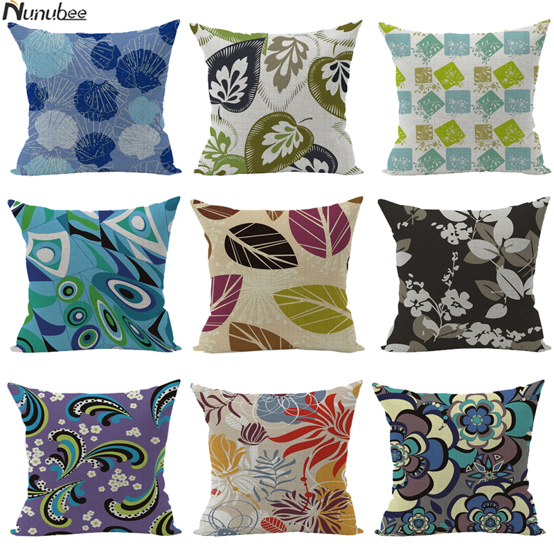 ethnic floral cushioncovers lotus flower almofada boho decorative pillows case scandinave cojines nordic home decoration