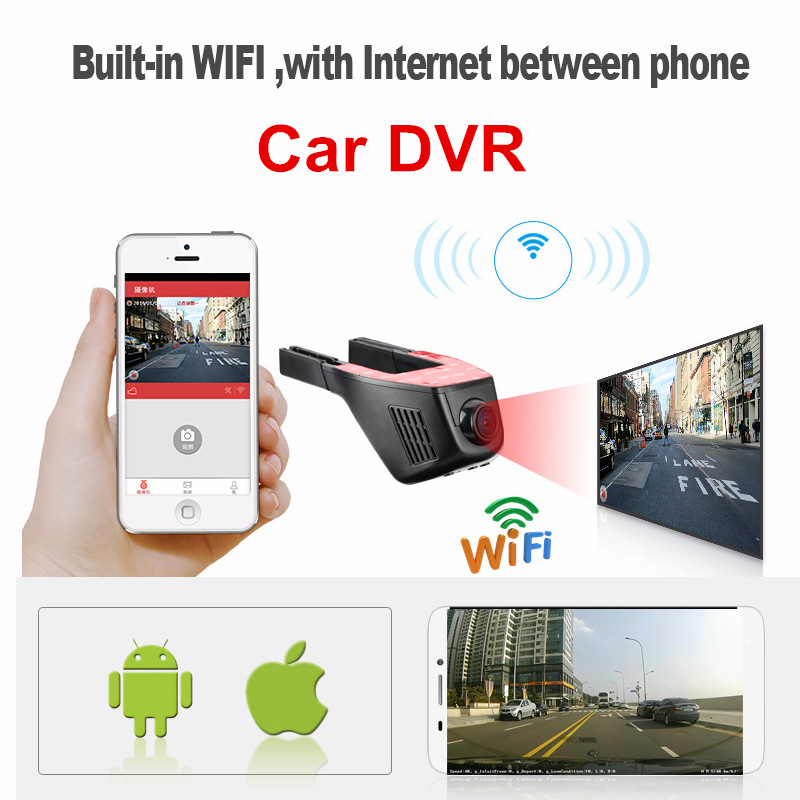 New Wireless WiFi Car DVR font b Camera b font Video Recorder Loop Recording Full HD