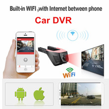 Nuovo Wireless WiFi Macchina Fotografica Dell'automobile DVR Video Recorder Registrazione in Loop Full HD 1080 p Novatek Dash Cam Registrator