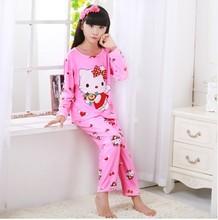 New Sale 2017 Autumn Spring Baby Sleepwears Suits Lovely Gilr Pajamas Children font b Pyjamas b
