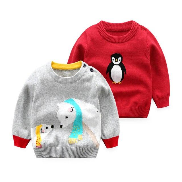 Новорожденных Детская одежда свитер мальчик с длинным рукавом трикотажные топы весна