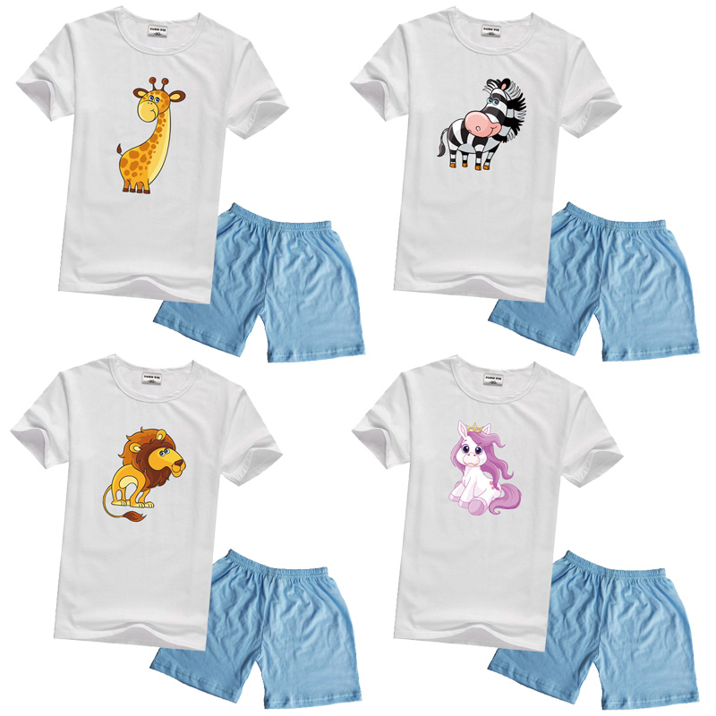 0331292fd DMDM PIG Boys Summer Kids Clothes Set Girl Cartoon T-Shirt + Pants Size 2 3  4 5 Years 2019 Baby Clothing Sets Suit Toddler Boy