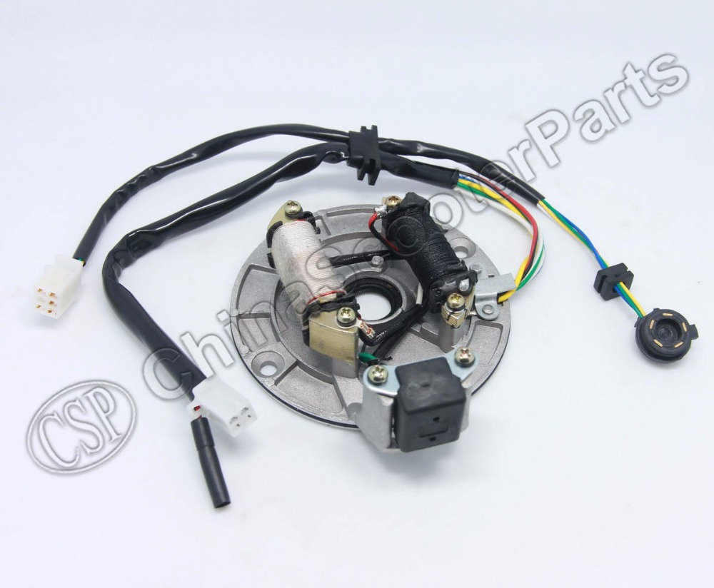 Magneto Stator Plate Coil With Gear Readout AC 2 Pole 6 Wire 50CC 70CC 90CC 110CC 125CC Dirt Pit Bike ATV Quad Parts : pit bike stator wiring - yogabreezes.com