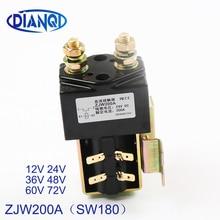 DIANQI SW180 нет(нормально открытый) стиль 12 В 24 в 36 в 48 в 60 в 72 в 200A DC контактор ZJW200A для вилочного погрузчика управление wehicle лебедка автомобиля