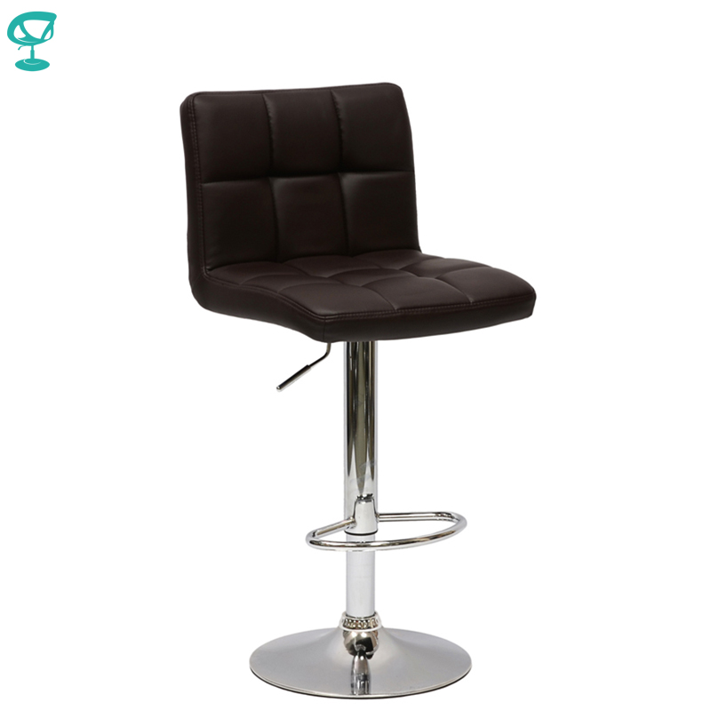 94357 Barneo N-47 Leather Kitchen Breakfast Bar Stool Swivel Bar Chair Dark Brown Color Free Shipping In Russia