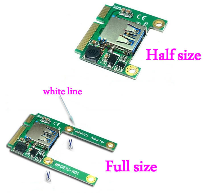 Mini PCIe PCI-E to USB 2.0 Adapter mPCIe to USB2.0 Converter Card