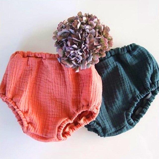 Baby Cotton Ruffle Bloomers Newborn Baby Girls Boys Summer Cute Diaper Cover Shorts Panty Toddler Ruffled Satin Panties Bloomers