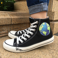 Wen 2017 New Design Canvas Shoes Earth Men Women S High Top Black Sneakers For Christmas